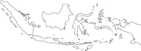 printable peta indonesia indonesia outline map