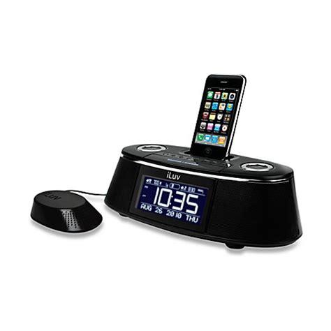 iluv 174 vibe plus dual alarm clock w bed speaker shaker for iphone model imm178 black bed bath