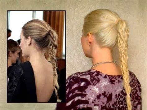 gossip girl hairstyles youtube serena blake lively ponytail braid hair style tutorial