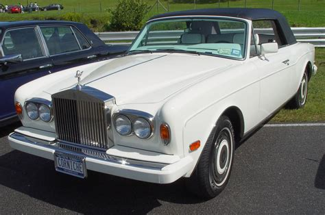 rolls royce white convertible car