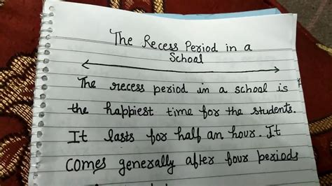 Recess At School Essay by The Recess Period In School A Smart And Easy Essay For In Classes