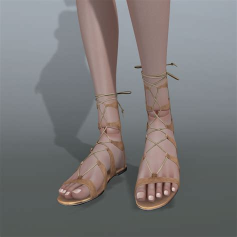 Lace Up Flat Sandals coco coco fashion doll lace up flat sandals