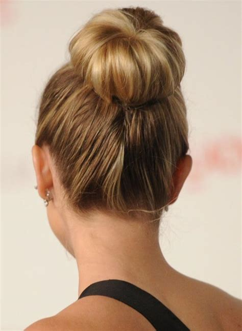Simple Bun Hairstyles by 80 Uplifting Hairstyle Ideas For A Top Knot Bun