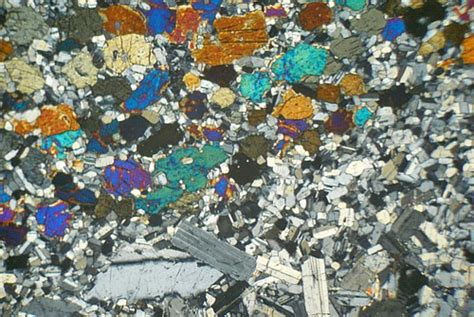 hypersthene in thin section acidified hypersthene gabbro ardnamurchan scotland thin