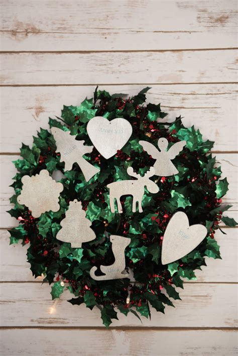 personalised wooden christmas decoration by ruby and