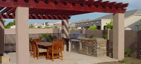 Pool And Outdoor Kitchen Designs by Patio Design Amp Backyard Landscaping Phoenix Patios
