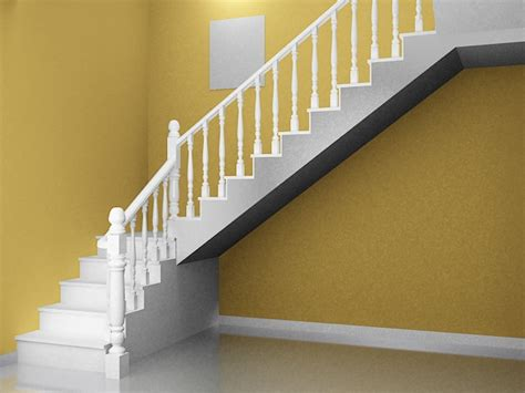 traditional home staircase  model ds max files