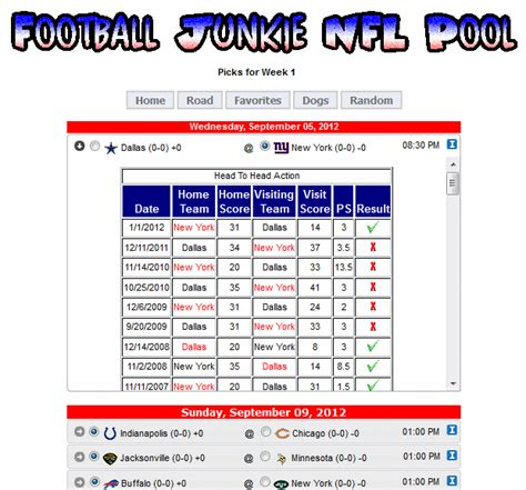 Office Football Pool Manager Software Free Brewster S Nfl Football Pool 2007 Downloads Web