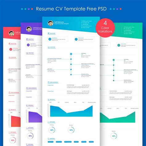 resume template free psd 10 creative resume free psd templates phire base