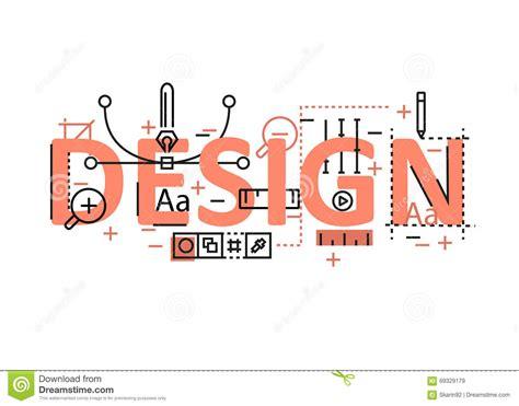 design concept elements design concept flat line design with icons and elements