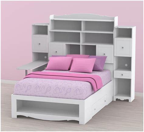 bookcase headboard bedroom suites black wooden queen bed