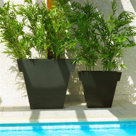 pot jardin design pot ext 233 rieur vaso black 55 cm la boutique desjoyaux