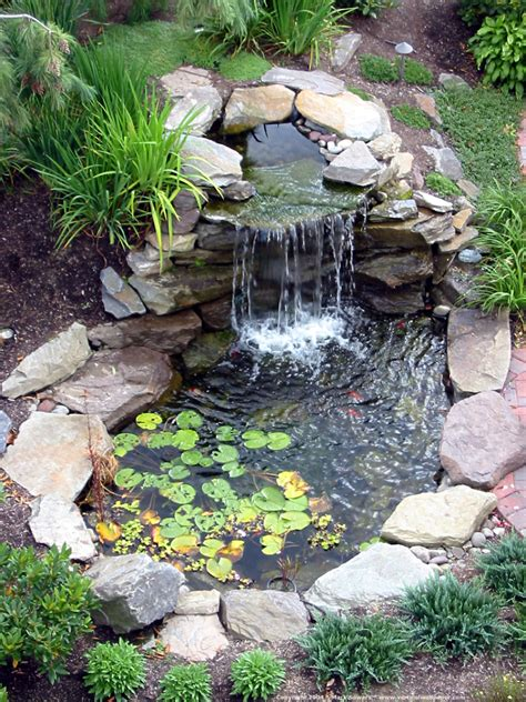 backyard ponds with waterfalls garden landscaping charming backyard pond pictures which