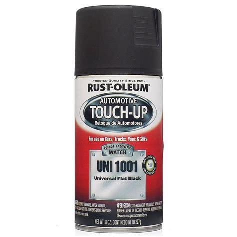home depot paint touch up rust oleum automotive 8 oz universal flat black auto