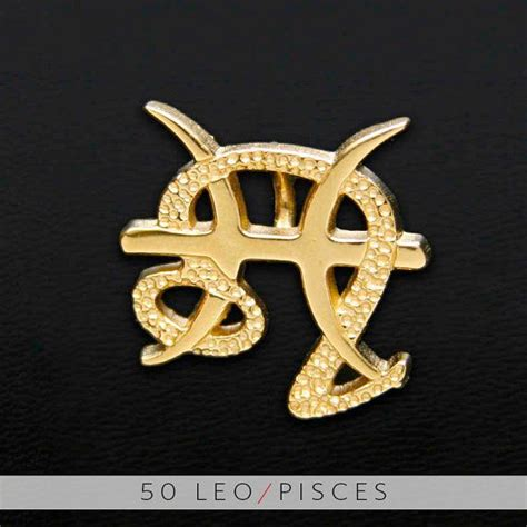 unity tattoo 50 leo and pisces gold unity pendant pisces and