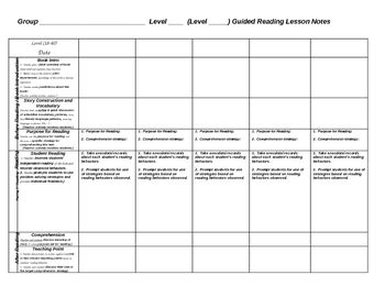 Weekly Scaffolded Guided Reading Lesson Plan Template By Jeanine Humphrey Scaffolding Plan Template