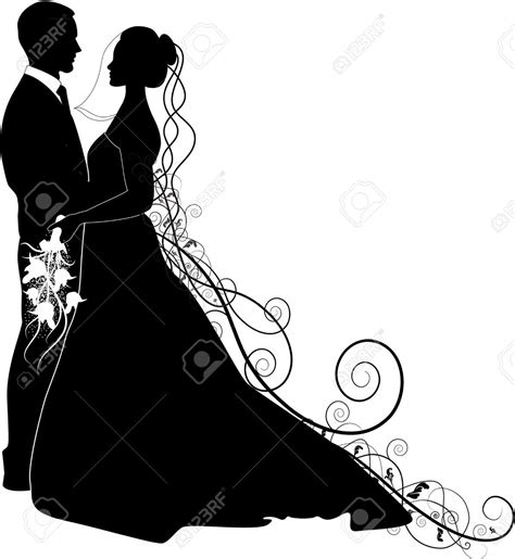 Bride And Groom Silhouette Cliparts, Stock Vector And ... Free Clipart Bride Silhouette