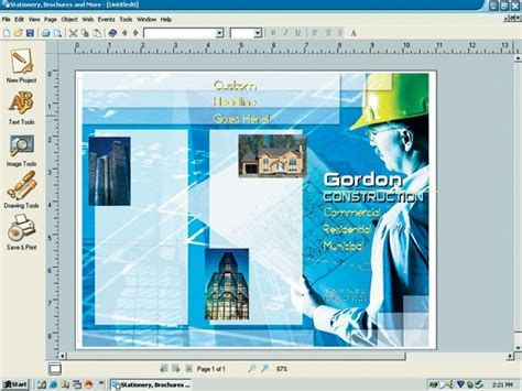 brochure layout maker stationery and brochure maker software informer screenshots