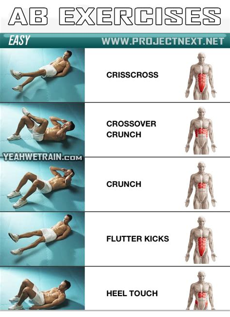 sixpack workout easy part 1 abs abdominal crunch exercise yeah we ejercicios