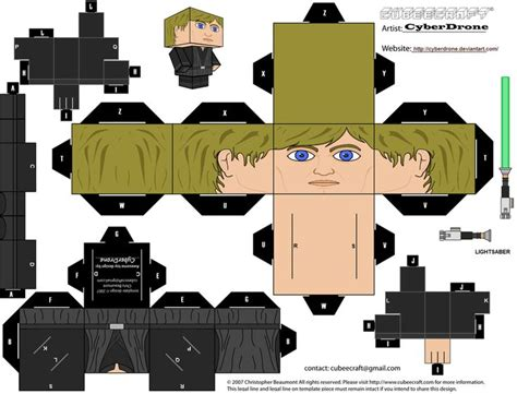 Wars Papercraft Templates - cubee luke skywalker jedi by cyberdrone on deviantart