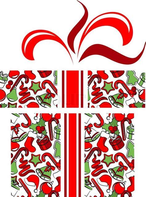 images of christmas symbols gift box made of traditional christmas symbols stock