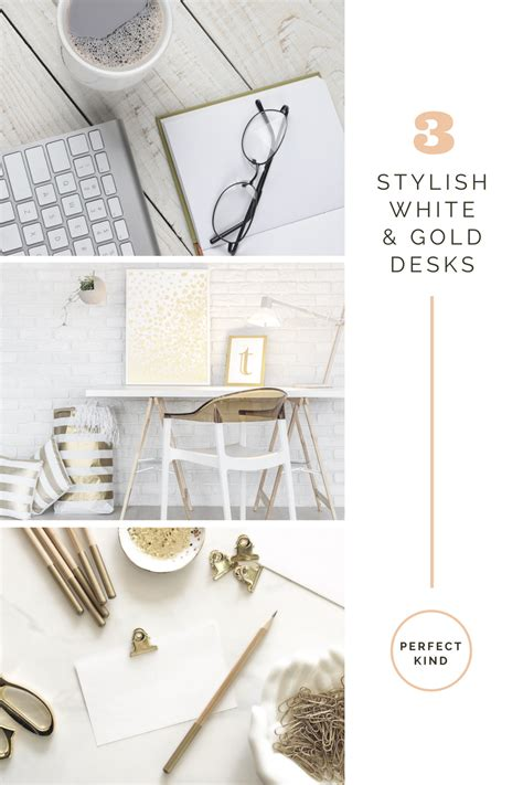 white and gold desk accessories white and gold desk a gorgeous diy gold faux bois sawhorse
