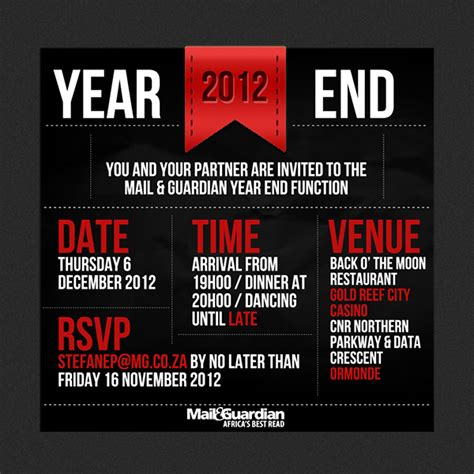 Invitation Letter Year End Year End Invitation Card On Behance