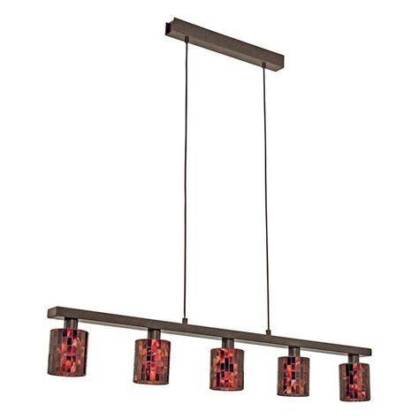 Brown Ceiling Light Shades Eglo Troya 5 Light Antique Brown Hanging Ceiling Island Light With Mosaic Glass Shade 20965a