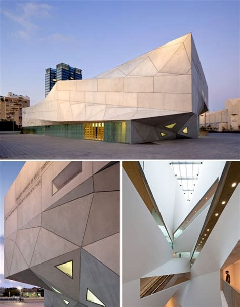 Origami Buildings - origami inspired architecture 14 geometric structures
