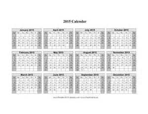 2015 Calendar One Page Horizontal 2015 Calendar New Calendar Template Site