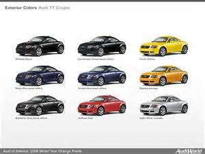 Audi Tt Colors Audi Of America 2006 Model Year Change Points Audiworld