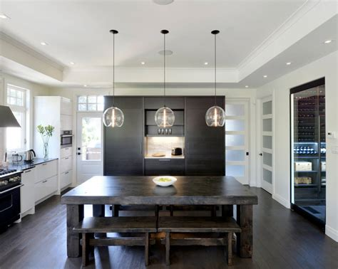 kitchen table lighting kitchen table lighting blends seamlessly with black and
