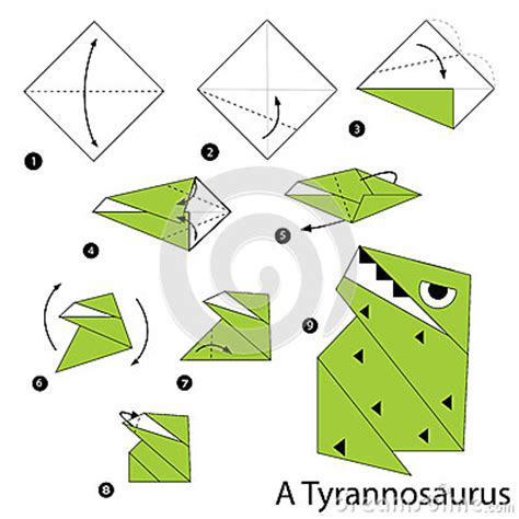 How To Make Origami Dinosaur Step By Step - step by step how to make an origami a