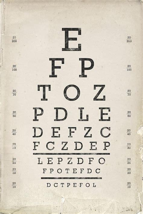 printable vintage eye chart vintage eye chart drawing by industrial prints