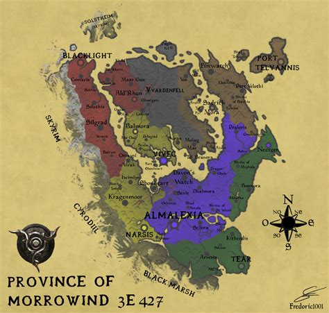 morrowind map morrowind 3e427 by fredoric1001 on deviantart