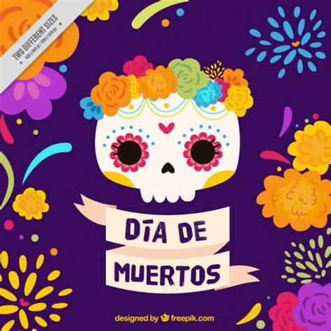 imágenes de calaveras que se puedan descargar calavera mexicana con flores para el d 237 a de los muertos