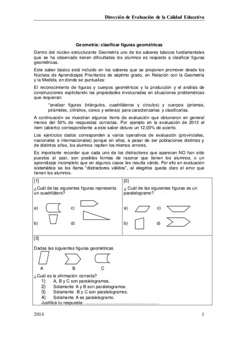 Geometría clasificar figuras geométricas