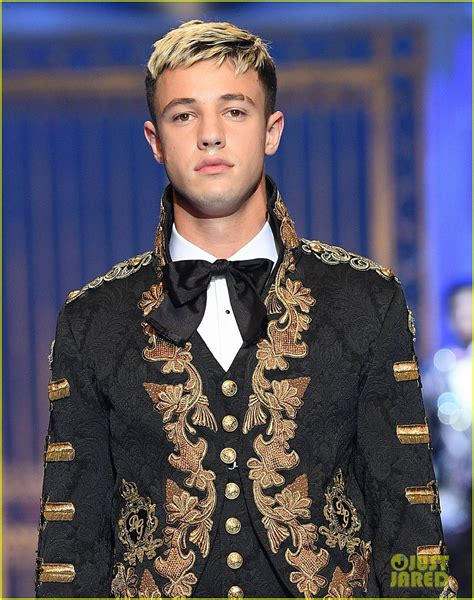 cameron dallas is shirtless royalty at dolce amp gabbana