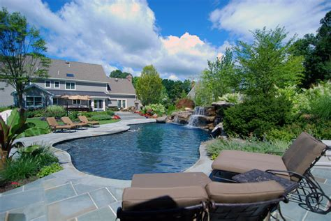 landscaped backyards with pools landscaping with pools home design and decor reviews