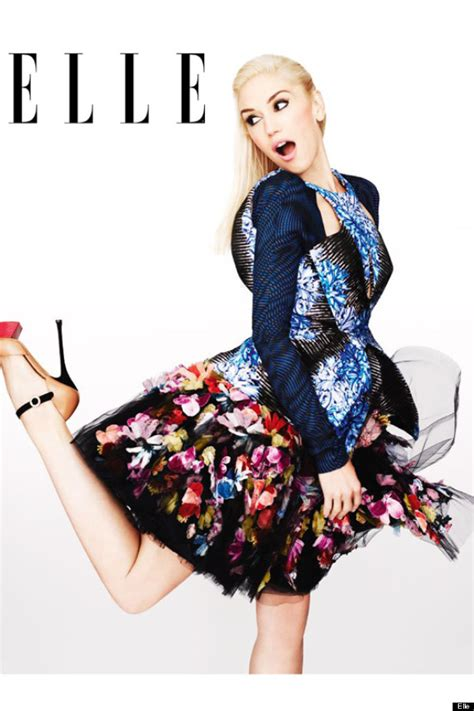 Gwen Does Elleagain by Gwen Stefani Does Print On Print For S October Issue