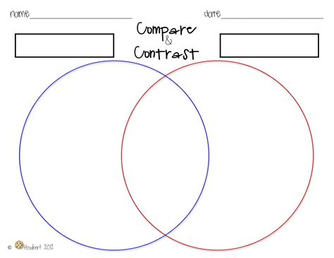 compare and contrast template search results for compare and contrast chart calendar