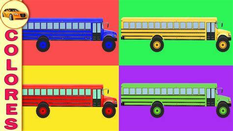 imagenes buses escolares animados los colores para ni 241 os autobuses escolares dibujos