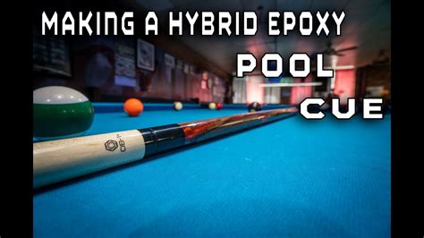 custom hybrid epoxy pool cue   wood lathe