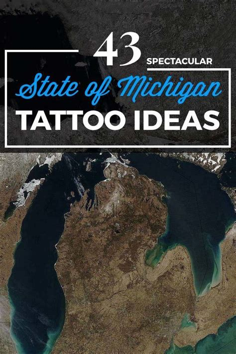 state of michigan tattoo designs 43 spectacular state of michigan tattoos tattooblend