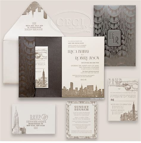 Wedding Invitations New York City by V223 Our Muse Charming New York City Wedding And