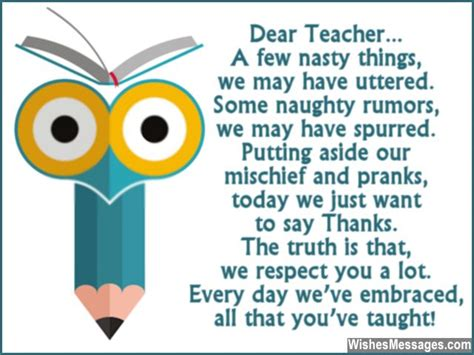 Thank You Note Leaving School Thank You Quotes From Students Quotesgram