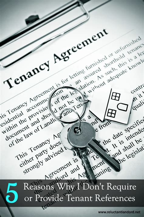 5 reasons why i don t require or provide tenant references the reluctant landlord