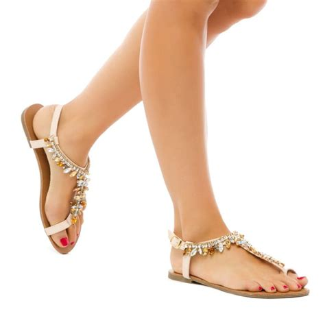 Klip Flatshoes 17 best images about jeweled flat sandals on asos flats and shoes