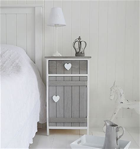 white heart bedroom furniture heart cottage grey and white bedside cabinet bedroom