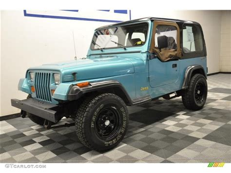 teal jeep 1995 teal pearl jeep wrangler s 4x4 62758206 photo 3